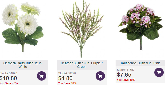 Aldik home my secret vendors some of their floral bushes price in the average range and some others are high end mightylinksfo